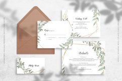 Geometric Foliage Wedding Invitation Suite Product Image 3