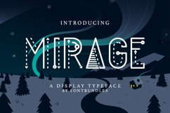 Web Font Mirage Product Image 1