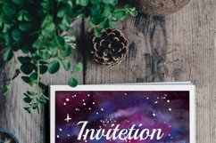 Space Poster. Three Watercolor Backgrounds Product Image 6
