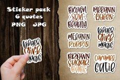 Digital and printable stickers bundle Black girl magic cutie Product Image 1