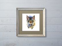 Watercolor cats clipart Product Image 6