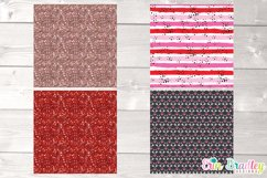 Pink Valentines Day Digital Papers Product Image 3
