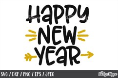 Happy New Year, 2019, SVG DXF EPS PNG, Cricut, Cutting Files Product Image 1