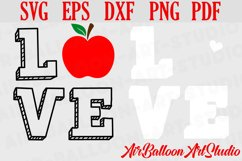 Teacher Svg Teach Love Svg School Svg Love School SVG Love S Product Image 3