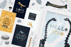 Dinosaur skeletons vector clipart, alphabet, patterns Product Image 5