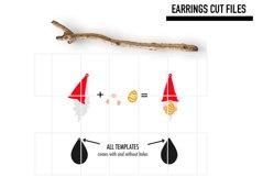 Gnome Easter Egg Earrings Svg / Earrings Template Product Image 2