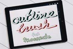 Procreate Brush, Outline Brushes, Lettering brushes Product Image 1