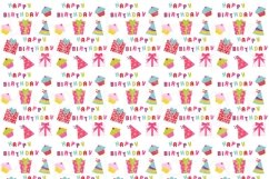 Birthday Girl Clipart and Digital Papers Set Product Image 2