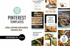 Scroll Stopping Food Blogger Pinterest Pin Pack | Canva Product Image 1