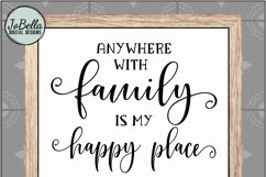 Family Is My Happy Place SVG, Sublimation Design and Print Product Image 4