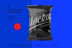 Black Plastic Snack Package Mockup Product Image 5