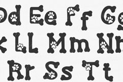 Lucky Paw Font | Pet Paw Font | bones and paw Letters Product Image 6