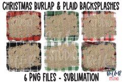 Christmas Plaid Burlap Sublimation Background Bundle Product Image 1