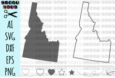IDAHO svg, State svg Files, Idaho Vector, United States svg, State Clip Art, Idaho Cut File, Idaho State Outline Product Image 1