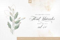 Floral Watercolor Bouquet Vol48 Product Image 1