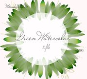 Watercolor Greenery Clipart Wreath Branches For wedding Product Image 4