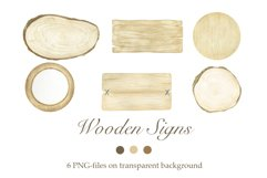 Watercolor Wooden Signs Product Image 1