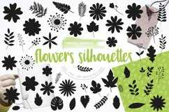 Flower silhouettes Graphics and illustrations, vecto Product Image 1