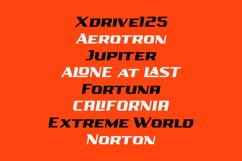 AIRBOLT - FUTURISTIC RACING FONT Product Image 3