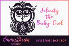 FELICITY THE BABY OWL SVG MANDALA / ZENTANGLE DESIGN Product Image 1