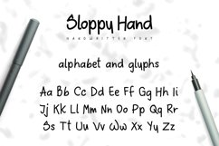 Sloppy Hand - a Handwritten Font Product Image 2
