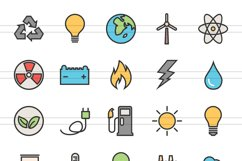 100 Energy Filled Line Icons Product Image 2