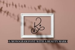 Scripty Monogram Font - With heart accents Product Image 5