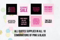 25 x Pink & Black Online Business Social Media Quotes Product Image 4