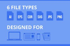 150 Office & Stationery Filled Line Icons Product Image 5
