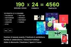 Social Media Cover & Post Design Templates Bundle SALE Product Image 2
