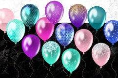 Mermaid Balloons Clipart Product Image 3