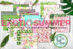 22 - 18x18 in. Exotic Summer Digital Papers Product Image 1