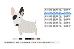 Bull Terrier Embroidery Design in 2 sizes Product Image 3
