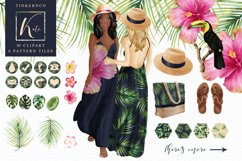 Tropical Travel Fashion Girl for bloggers and planners Product Image 1