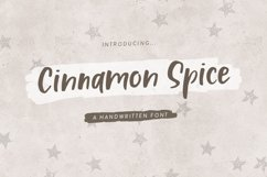 Cinnamon Spice - Handwritten Font Product Image 1