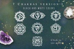 Chakra sybmols. Mandala set, Yoga, boho style.2 variatio Product Image 2