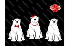 Polar Bear Trio SVG, JPEG, PNG, EPS, DXF Product Image 2