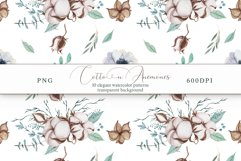 Cotton & Anemones Seamless Patterns Product Image 11