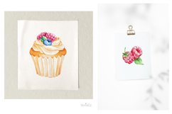 Baking Watercolor Clipart. Kitchen clipart. PNG Product Image 2