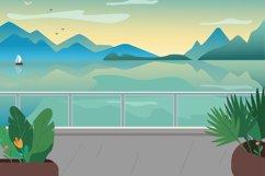 Seaside resort street flat color vector illustration Product Image 1