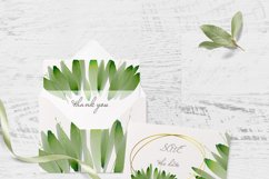 Watercolor Greenery Clipart Wreath Branches For wedding Product Image 5