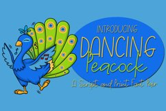 Dancing Peacock - A Script and Print Font Pair Product Image 1