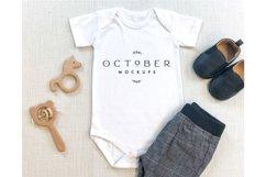 Mockup Bundle Baby Boy Bodysuit White in JPG Product Image 5
