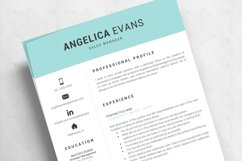 Modern Resume Template and Cover Letter. Fully editable CV Product Image 11