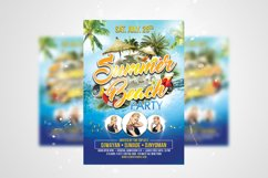 Summer Beach Party Flyer PSD Template Product Image 1