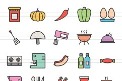 150 Natural Food Filled Line Icons Product Image 4