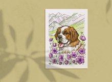Saint Bernard coloring page Product Image 4