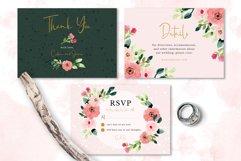 Sweet Floral Wedding Invitation Set Product Image 3