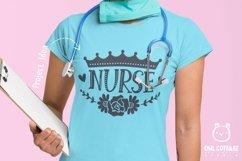 Nurse Crown with Flowers SVG, Nurse Floral SVG, Nurse Tattoo Product Image 5