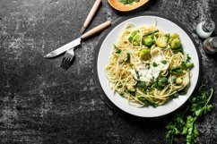 20 Photos Pasta background. Spaghetti with different sauces Product Image 6